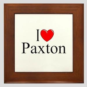 """I Love Paxton"" Framed Tile"