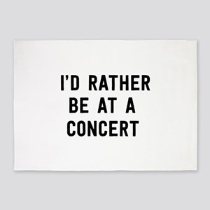 I'd Rather Be at a Concert 5'x7'Area Rug