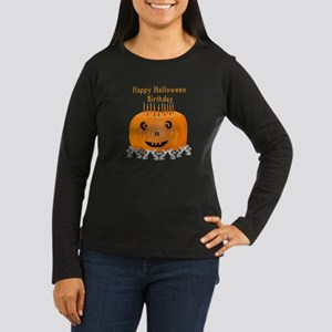 Halloween Birthday Women's Long Sleeve Dark T-Shir