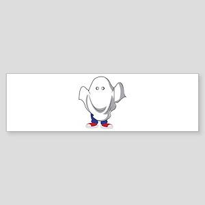 Halloween Ghost Bumper Sticker