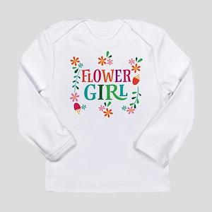 Flower Girl Bridal Party Long Sleeve T-Shirt