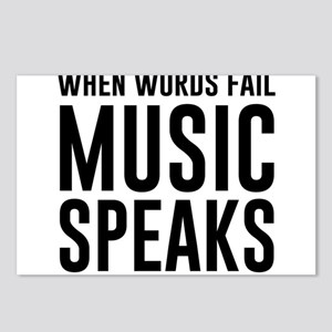 When Words Fail Music Speaks Postcards (Package of