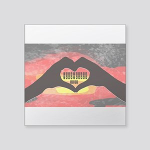 "Steno Love Square Sticker 3"" x 3"""