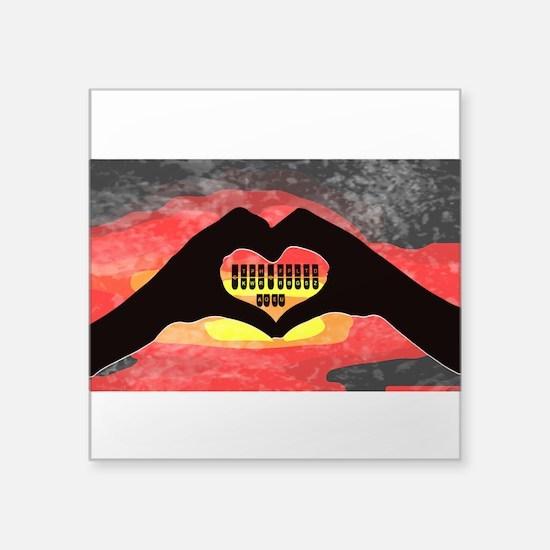 """Steno Love Square Sticker 3"""" x 3"""""""