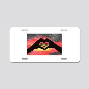 Steno Love Aluminum License Plate