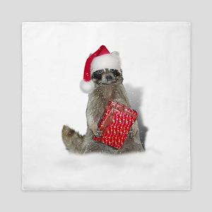 Christmas Raccoon Santa Queen Duvet