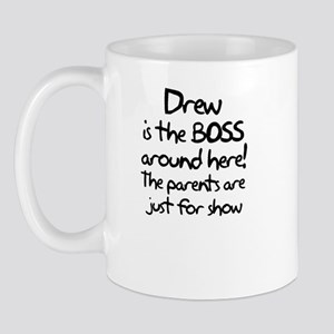 Drew is the Boss Mug