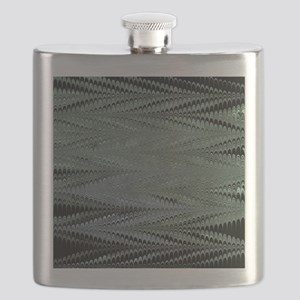 Black ZigZag Flask