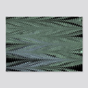 Black ZigZag 5'x7'Area Rug
