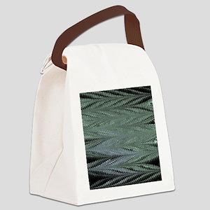 Black ZigZag Canvas Lunch Bag