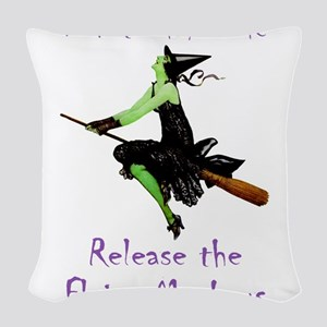 WITCH_Flying Monkeys 5 Woven Throw Pillow