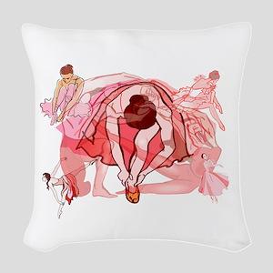 Ballet Dancers Woven Throw Pillow