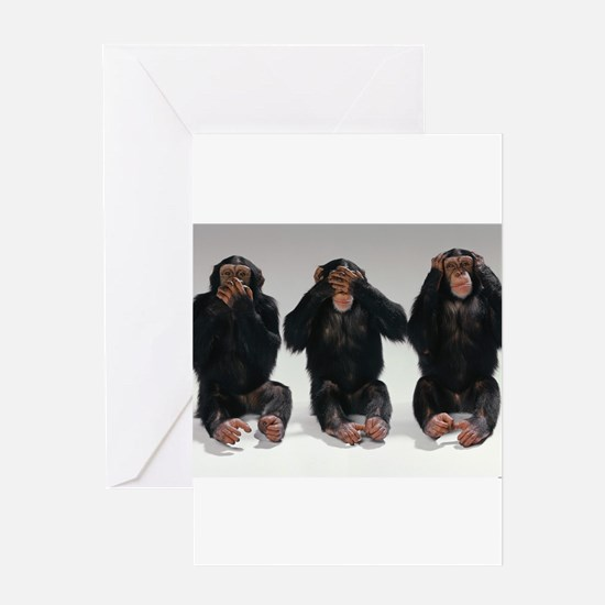 monkeys Greeting Cards