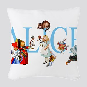 ALICE _special_FINALxx copy Woven Throw Pillow