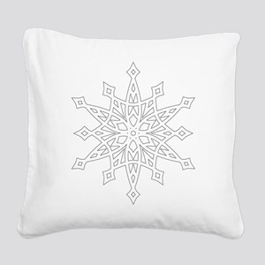 Snowflake Square Canvas Pillow