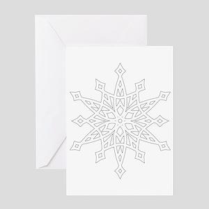 Snowflake greeting cards cafepress snowflake greeting cards m4hsunfo