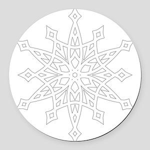 Snowflake Round Car Magnet