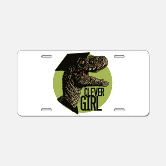 Clever Girl Aluminum License Plate