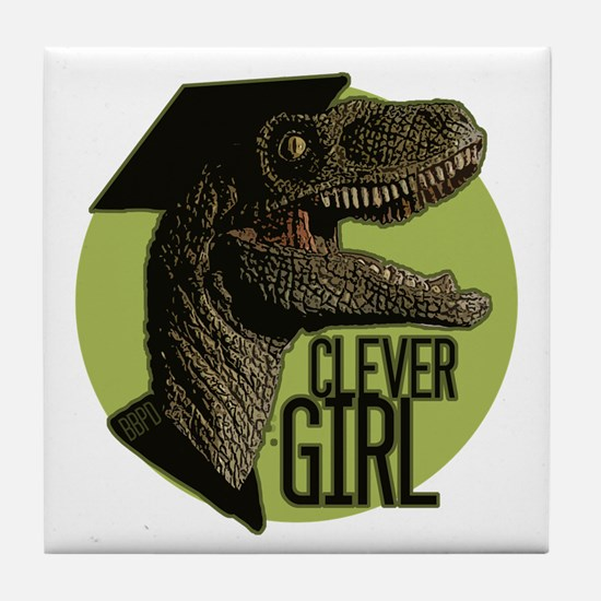 Clever Girl Tile Coaster