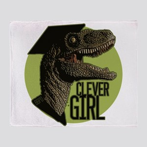 Clever Girl Throw Blanket