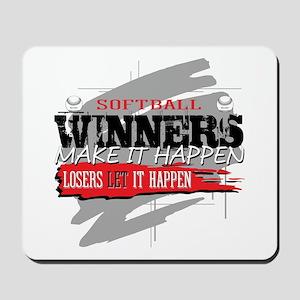 Winners and Losers Softball Mousepad