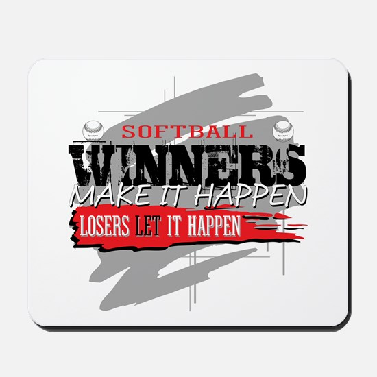 Winners and Losers Softball Mousepad