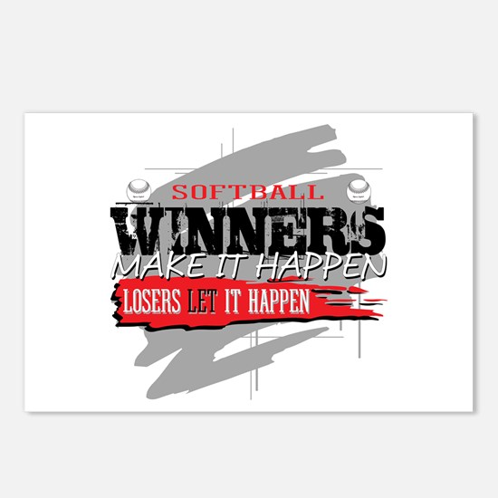 Winners and Losers Softba Postcards (Package of 8)