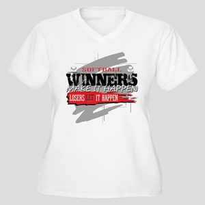 Winners and Loser Women's Plus Size V-Neck T-Shirt
