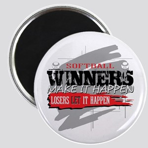 """Winners and Losers Softball 2.25"""" Magnet"""