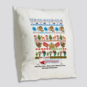EveryHoliday Burlap Throw Pillow