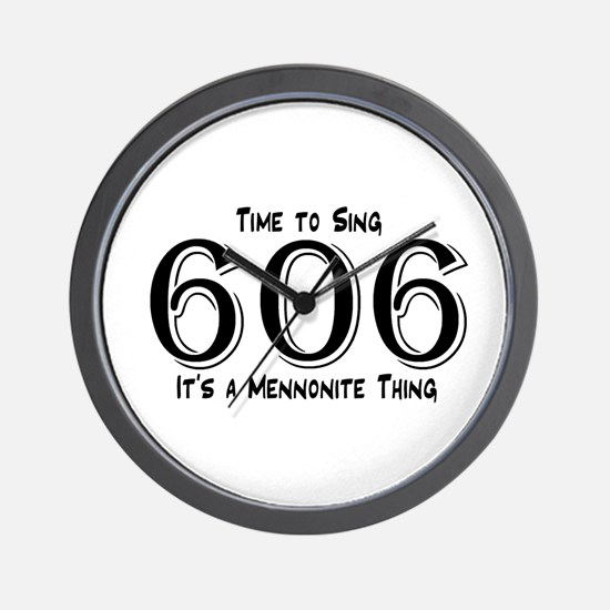 606 Mennonite Wall Clock