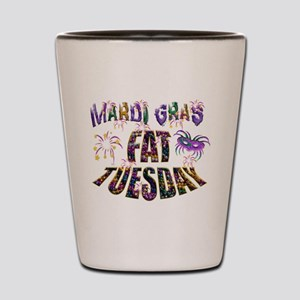 Fat Tuesday Shot Glass