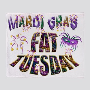 Fat Tuesday Throw Blanket
