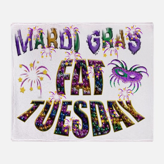 Fat Tuesday Throw Blanket