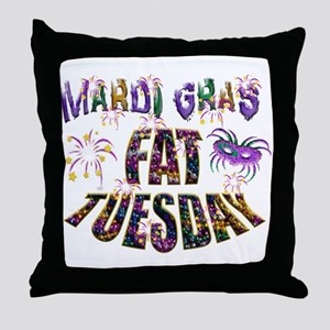 Fat Tuesday Throw Pillow