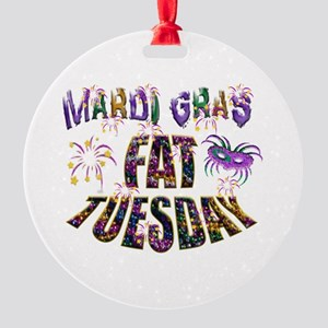 Fat Tuesday Round Ornament