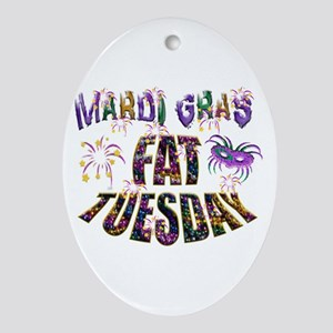 Fat Tuesday Ornament (oval)