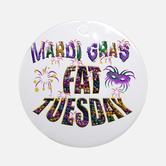 Fat Tuesday Ornament (round)