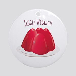 Jiggly Wiggly!! Ornament (Round)