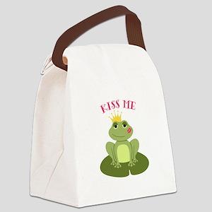 Kiss Me Canvas Lunch Bag