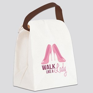 Walk Like Lady Canvas Lunch Bag