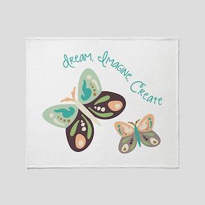 Dream Imagine Create Throw Blanket