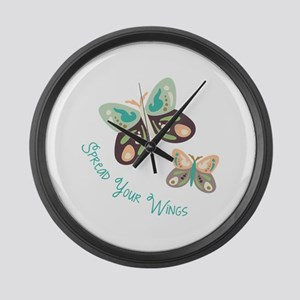 Spread Your Wings Large Wall Clock