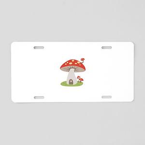 Mushroom House Aluminum License Plate