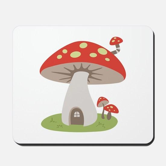 Mushroom House Mousepad