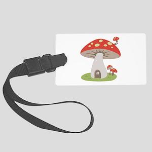 Mushroom House Luggage Tag