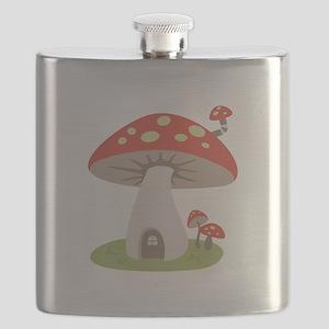 Mushroom House Flask