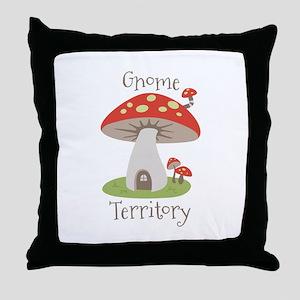 Gnome Territory Throw Pillow