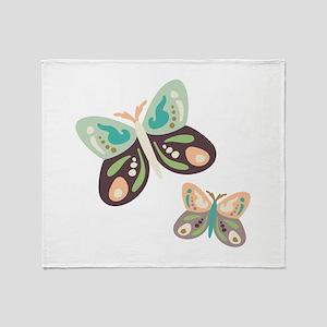 Flying Butterfies Throw Blanket