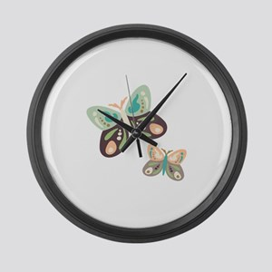 Flying Butterfies Large Wall Clock